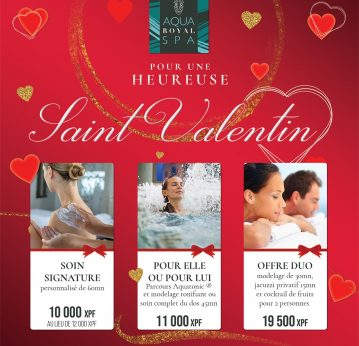 Offres de la Saint Valentin <br> à l'Aqua Royal Spa